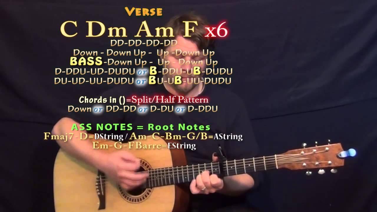 Halo (Jordan Smith) Guitar Lesson Chord Chart - Capo 6th - YouTube