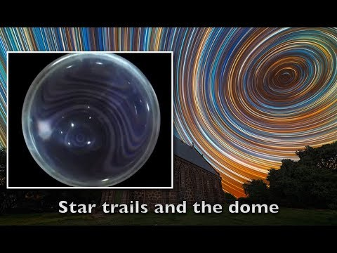 STAR TRAILS AND THE DOME