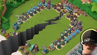 Divide Base vs Hammerman Defense Event   Split The Troops   Boom Beach