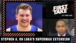 Stephen A. reacts to Luka agreeing to a 5-year/$207M supermax extension with the Mavs