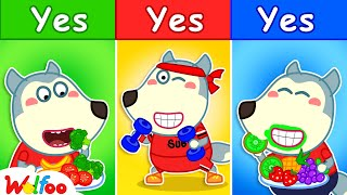 Yes Yes Stay Healthy - Wolfoo Said YES to EVERYTHING for 24 Hours Challenge for Kids| Wolfoo Channel