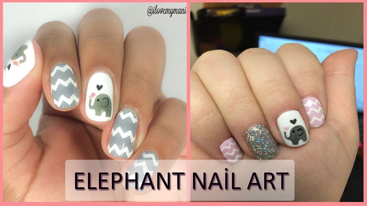 elephant tusk nail design - YouTube