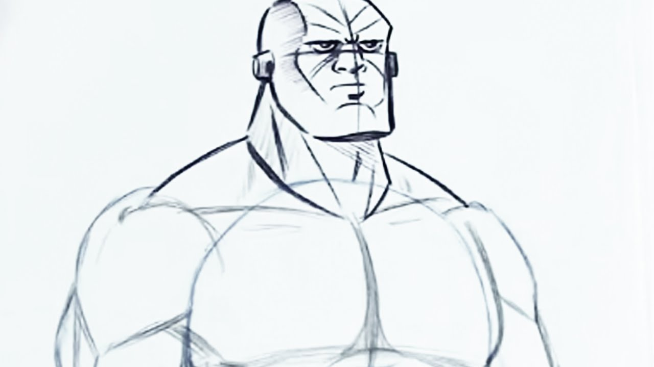 How to Draw Superhero Muscles (Step by Step) - YouTube