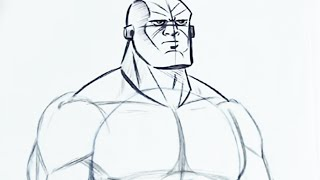 drawing muscle draw superhero drawings muscles easy step anime