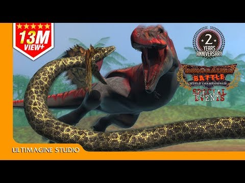 Download Youtube: Titanoboa VS T-Rex : Dinosaurs Battle Special