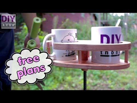 Make Your Own Coffee Mug Holder - Download FREE PDF Plan