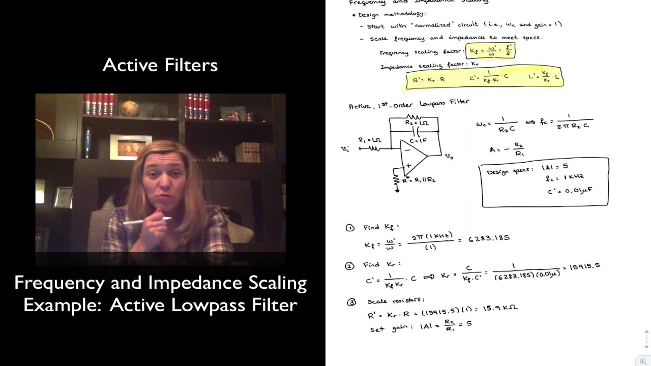 Frequency And Impedance Scaling Example 2 Youtube Of Rlc Circuit From Phasor Electronics Forum Circuits