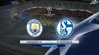 Manchester City Vs FC Schalke UCL Round Of 16 PES 2018 || PS3 Gameplay Full HD 60 FPS
