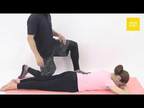 18棘上筋のストレッチ指導法