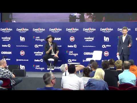 ESCKAZ in Lisbon: Press conference of Waylon (The Netherlands)
