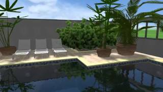 Video nepravidelný hranatý  bazén