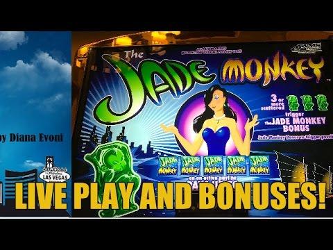 High Limit Jade Monkey Slot Machine Bonus Live Play Youtube