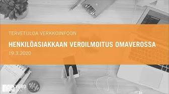 Henkilöasiakkaan veroilmoitus OmaVerossa, verkkoseminaari