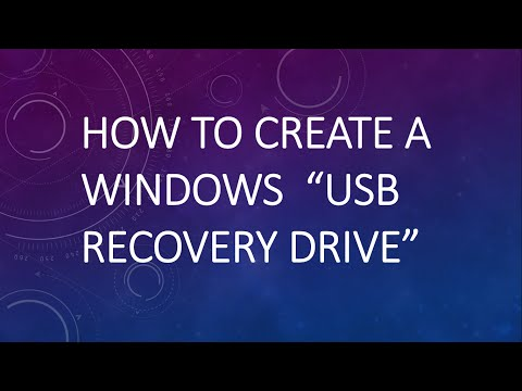 How To Create A USB Recovery Drive For Windows 8 | Windows 8.1 | Windows 10 | Repair Disk