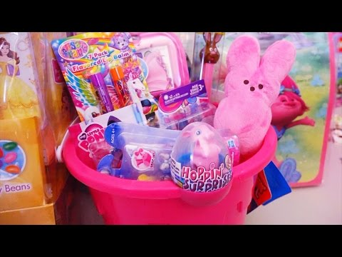 Easter Baskets Filled With Kids Toys & Dolls - Beauty & the Beast, Barbie, Trolls, Disney, MLP