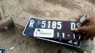 Tips rapih pasang plat nomor polisi sepeda motor #ireng setiawan