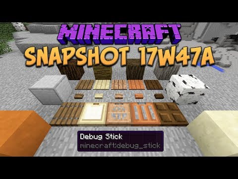 Minecraft 1.13 Snapshot 17w47a New Creative Blocks, Trapdoors, Buttons & Debug Stick!
