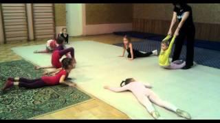 Первый урок акробатики у Бьянки
