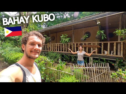 STAYING IN A FILIPINO NIPA HUT (BAHAY KUBO) PUERTO PRINCESA 🇵🇭 PALAWAN