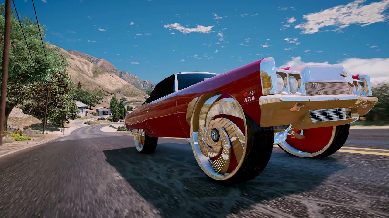 1973 Chevrolet Impala Vert On 32s Dub Gta V Donk Mod 4k Pc Youtube