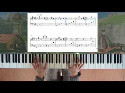 Zelda: Breath of the Wild Hateno Village piano + sheet music + improv