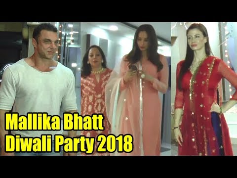 Salman Khan's GF Lulia Vantur & Sohail Khan SPOTTED at Mallika Bhatt Diwali Party 2018