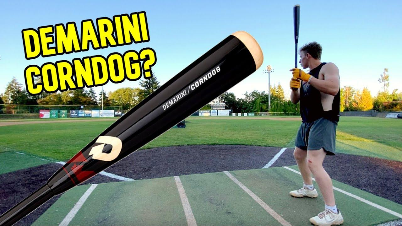 Hitting with the DeMarini CORNDOG | Wood Composite Baseball Bat Review