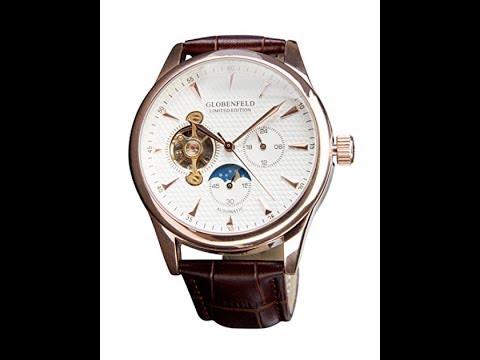 Automatic Men's Watches Globenfeld | Montre Automatique Homme : Rose Antique Édition Limitée