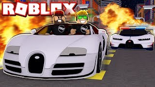 COMPUTER CONTROLLED POLICE CARS CHASING US!!! ROBLOX VEHICLE SIMULATOR SHAKEDOWN!