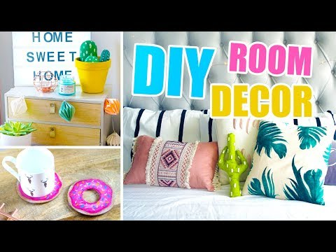 DIY SUMMER ROOM DECOR 2017 🌴