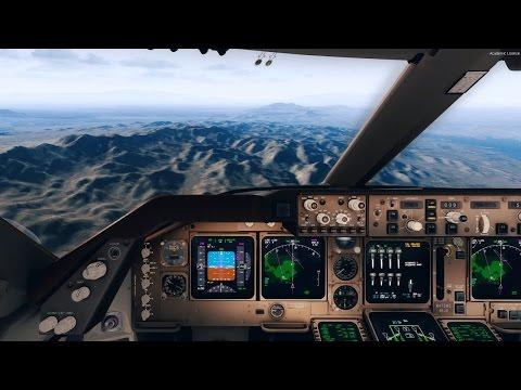 [P3D V3 4] PMDG 747 V3 FSDT KLAS Arrival