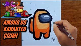 Among Us karakter çizimi kolay karakter nasıl çizilir  kolay çizimler