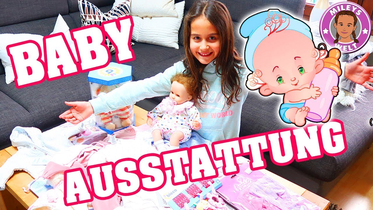 baby erstausstattung neugeborenes reborn baby mileys welt youtube. Black Bedroom Furniture Sets. Home Design Ideas