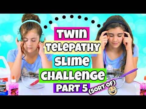 Twin Telepathy Slime Challenge Part 5! Rachel Vs Julia!