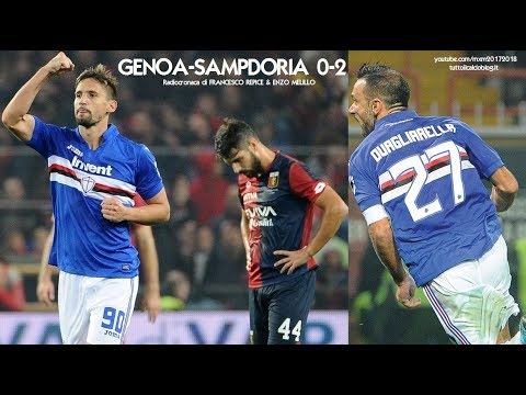 GENOA-SAMPDORIA 0-2 - Radiocronaca di Francesco Repice & Enzo Melillo (4/11/2017) da Rai Radio 1