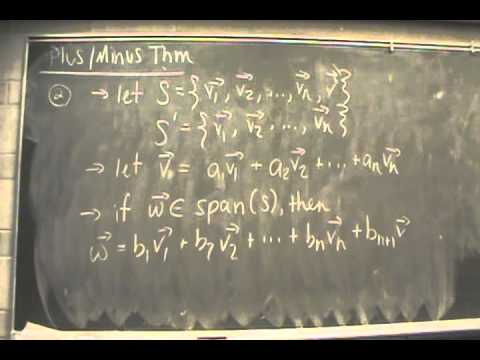 MATH 2203 - Basis and Dimension 2