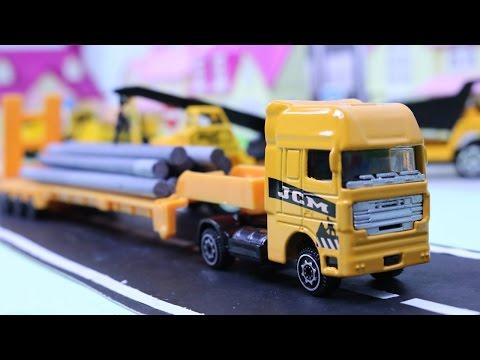 รถของเล่นจิ๋ว รถเครน รถแม็คโคร รถดั้มตักดิน ยกขบวนรถก่อสร้าง | Construction Vehicles | Excavator