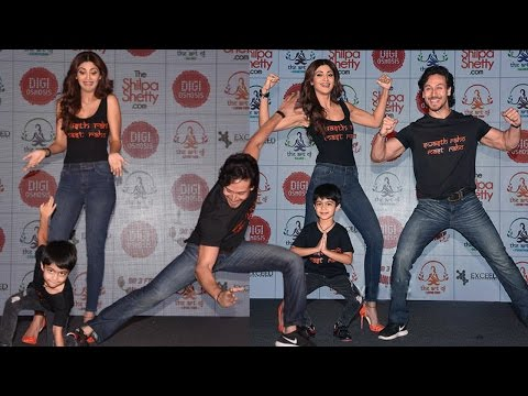 Shilpa Shetty's Son Viaan With Tiger Shroff At The Live Launch Of Website On Fitness