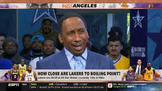 FIRST TAKE on ESPN   How Close are Lakers to boiling point