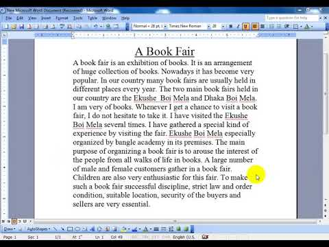 Essay on fair