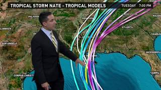 Tropical Storm Nate Outlook for Thursday, October 5 2017