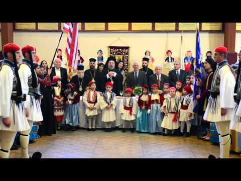 "THE ""EVZONES, THE PRESIDENTIAL GUARD OF THE HELLENIC REPUBLIC VISIT TO THE METROPOLIS OF NEW JERSEY."