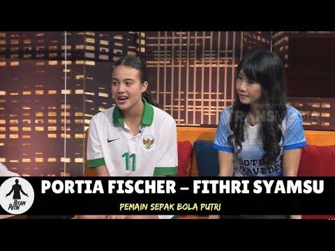 PORTIA FISCHER & FITHRI SYAMSU, BIDADARI LAPANGAN HIJAU   HITAM PUTIH 240518 24