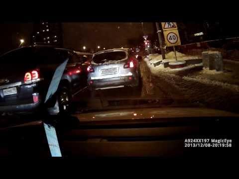 ДТП 8.12.2013, Москва, пересечение Рябиновой ул. и Можайского шоссе