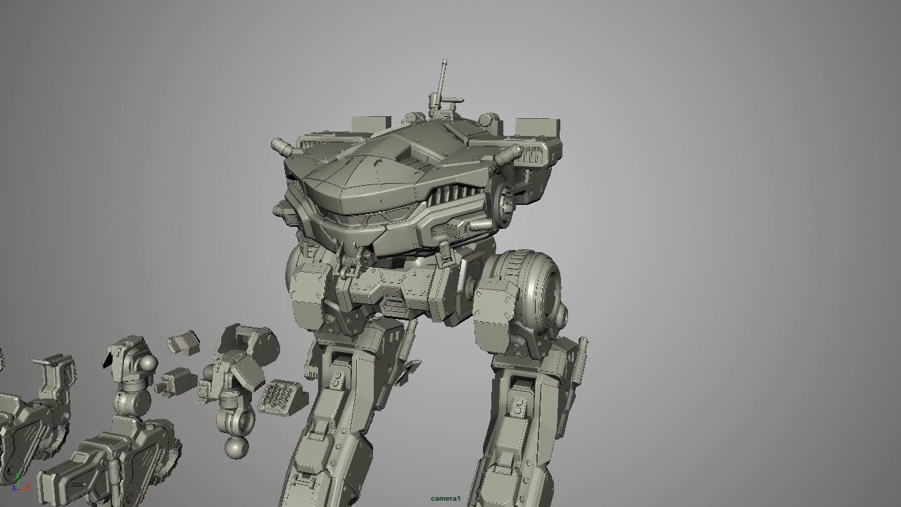 King Crab Mech for 3D Printing from MechWarrior Online