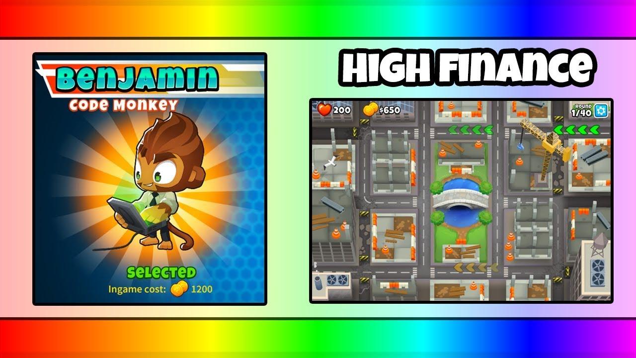 BTD6 BENJAMIN (NEW HERO) Gameplay on HIGH FINANCE (NEW MAP)