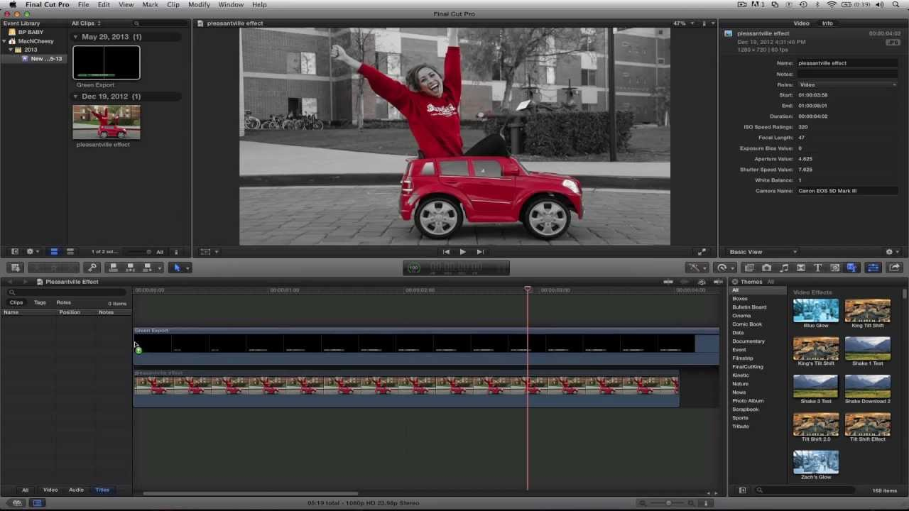 how to use motion templates in final cut youtube