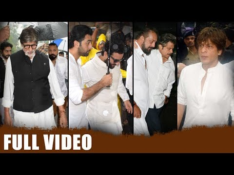 Full Video | Bollywood Celebrities Attend Shashi Kapoor'S Last Rites Ceremony | Srk | Amitabh