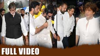 Full Video | Bollywood Celebrities Attend Shashi Kapoor'S Last Rites Ceremony | Srk | Amitabh