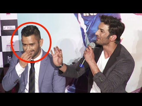 Thumbnail: Sushant Singh Rajput Trolls M.S. Dhoni - Funny Movements At M. S. Dhoni Trailer Launch